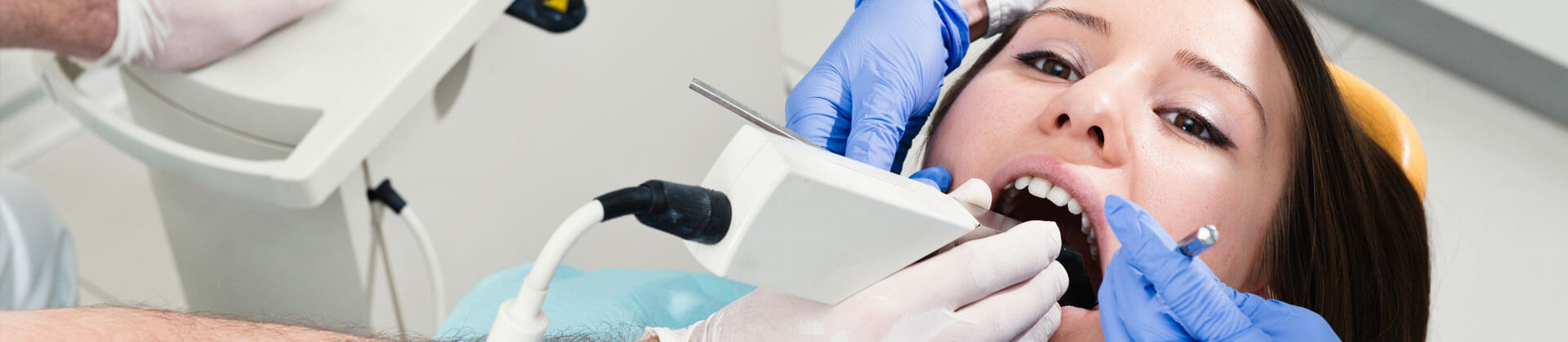 Patient being treated at Dental clinic